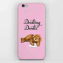 Doodling Doodle (Pink) iPhone Skin