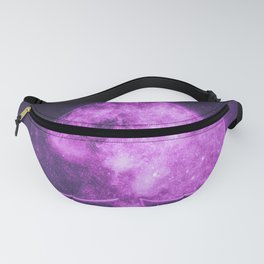 Spade symbol. Playing card. Abstract night sky background Fanny Pack