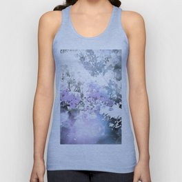 Watercolor Floral Lavender Teal Gray Unisex Tank Top