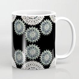 Silver and Black Mandala Circles Coffee Mug