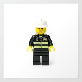 Firefighting Minifig Art Print