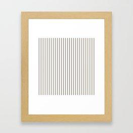 Mulch Brown Pinstripe on White Framed Art Print