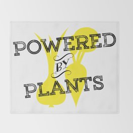 Powered By Plants Throw Blanket