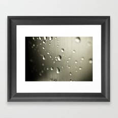 Rain Drops Keep Falling Framed Art Print