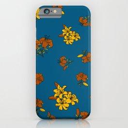 Orange yellow lily iPhone Case