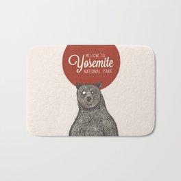 Bear from Yosemite Bath Mat