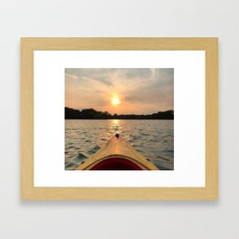 Paddle Into the Sunset Framed Art Print