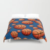 basketball Duvet Covers featuring Basketball by joanfriends
