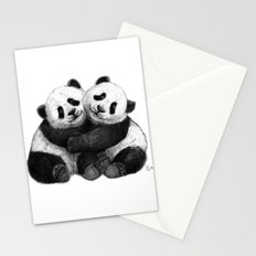 Panda's Hugs G143 Stationery Cards