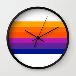 Bright Rainbow / Straight Wall Clock