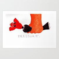 cabin pressure Art Prints featuring Pressure by Marie Mikkonen