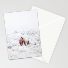 Two Winter Horses Stationery Cards