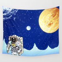 astronaut Wall Tapestries featuring Astronaut   by Spirit Tooth