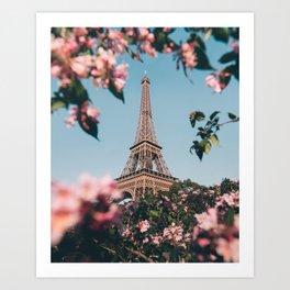 Paris in spring #society6 #decor #buyart Art Print