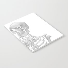 Thinking Skeleton (Black and White) Notebook