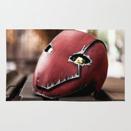 Red Hood Helmet Rug