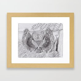 Adult Coloringbook Template Owl Framed Art Print