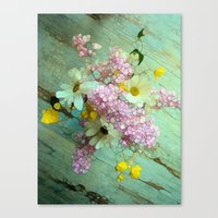 country Canvas Prints featuring country flowers by Joke Vermeer