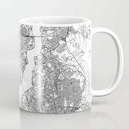Istanbul White Map Coffee Mug