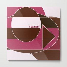 Funchal Mosaic Metal Print