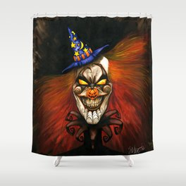 HALcLOWnEEN Shower Curtain