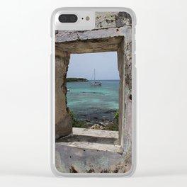 Sailboat in a Window Clear iPhone Case