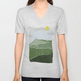Sky and mountain Unisex V-Neck