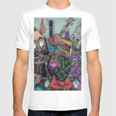 Sid Squish and the Death Collectors Mens Fitted Tee MEDIUM White