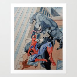 #38-Spider-man and Venom Art Print