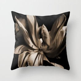 Tulip-sepia Throw Pillow