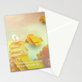 We can actually fly! Stationery Cards