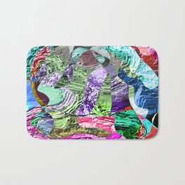 Divergent -abstract digital painting Bath Mat
