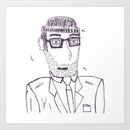 Homeless Mitch Art Print