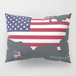Modern Map - United States of America USA Pillow Sham