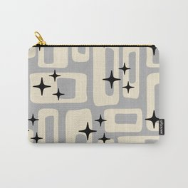 Retro Mid Century Modern Abstract Pattern 576 Gray Black Carry-All Pouch