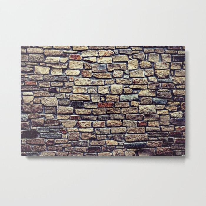 Brick Wall Pattern Metal Print