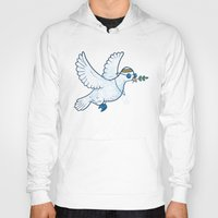 hippie Hoodies featuring Hippie Dove by laurxy