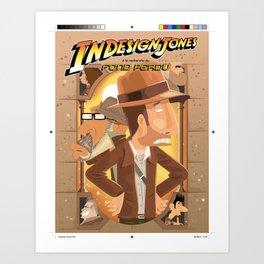 InDesign Jones Art Print