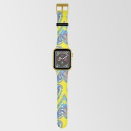 Hearts on Yellow Apple Watch Band