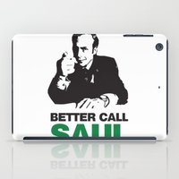 better call saul iPad Cases featuring Better Call Saul by Harry Martin
