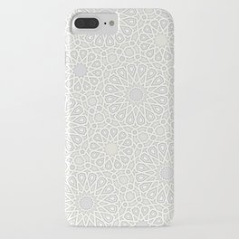 White Moroccan Tiles Pattern iPhone Case