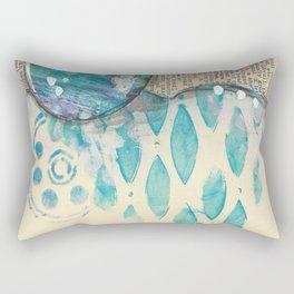 Sand And Sea Rectangular Pillow