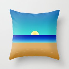 Beach Sun Minimal Throw Pillow