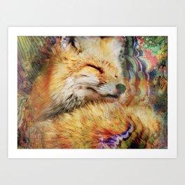 Funtastic Mrs. Fox Art Print
