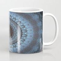 bohemian Mugs featuring Bohemian Blue by Jane Lacey Smith