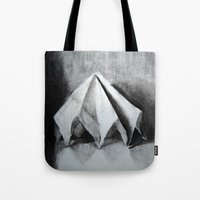 origami Tote Bags featuring ORIGAMI by The Traveling Catburys
