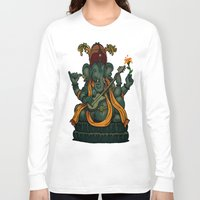 ganesha Long Sleeve T-shirts featuring Ganesha by Nip Rogers