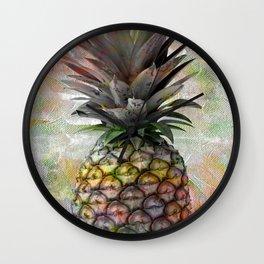 Pineapple design Wall Clock