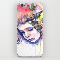 poison ivy iPhone & iPod Skins featuring Poison Ivy by Lauralouisa