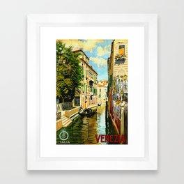 Venezia - Venice Italy Vintage Travel Framed Art Print